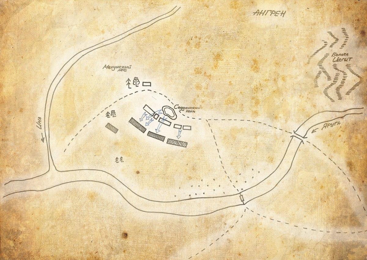 Схема Содденской битвы